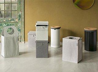 Brabantia linn laundry bins bags boxes