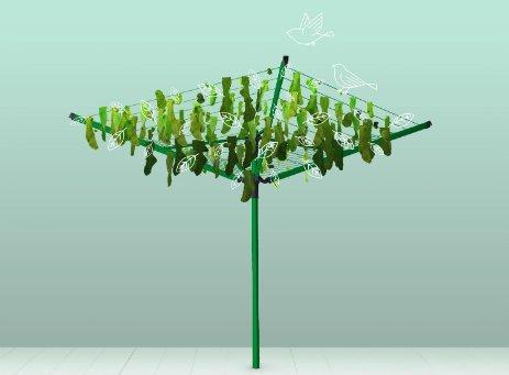 Des séchoirs rotatifs qui se transforment en arbres.