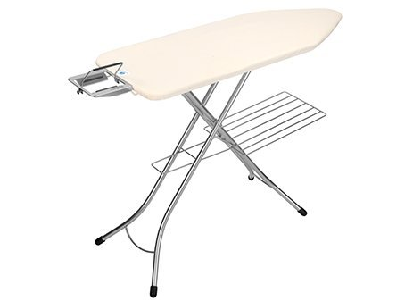 Ironing Board C, 124x45 cm, Steam Iron Rest with Linen Rack