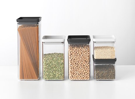 Stackable jars.