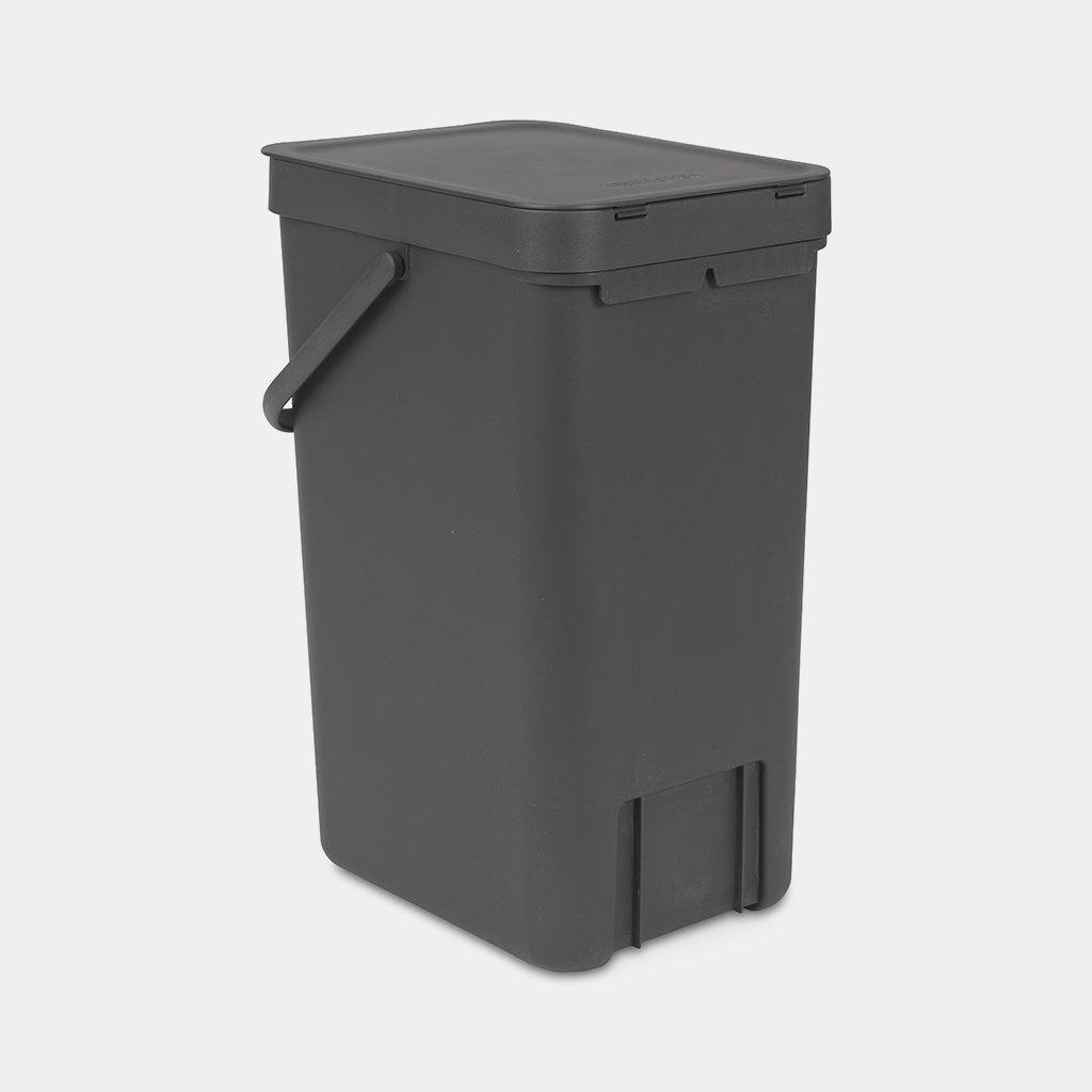 Kleine zwarte prullenbak afval scheiden handig