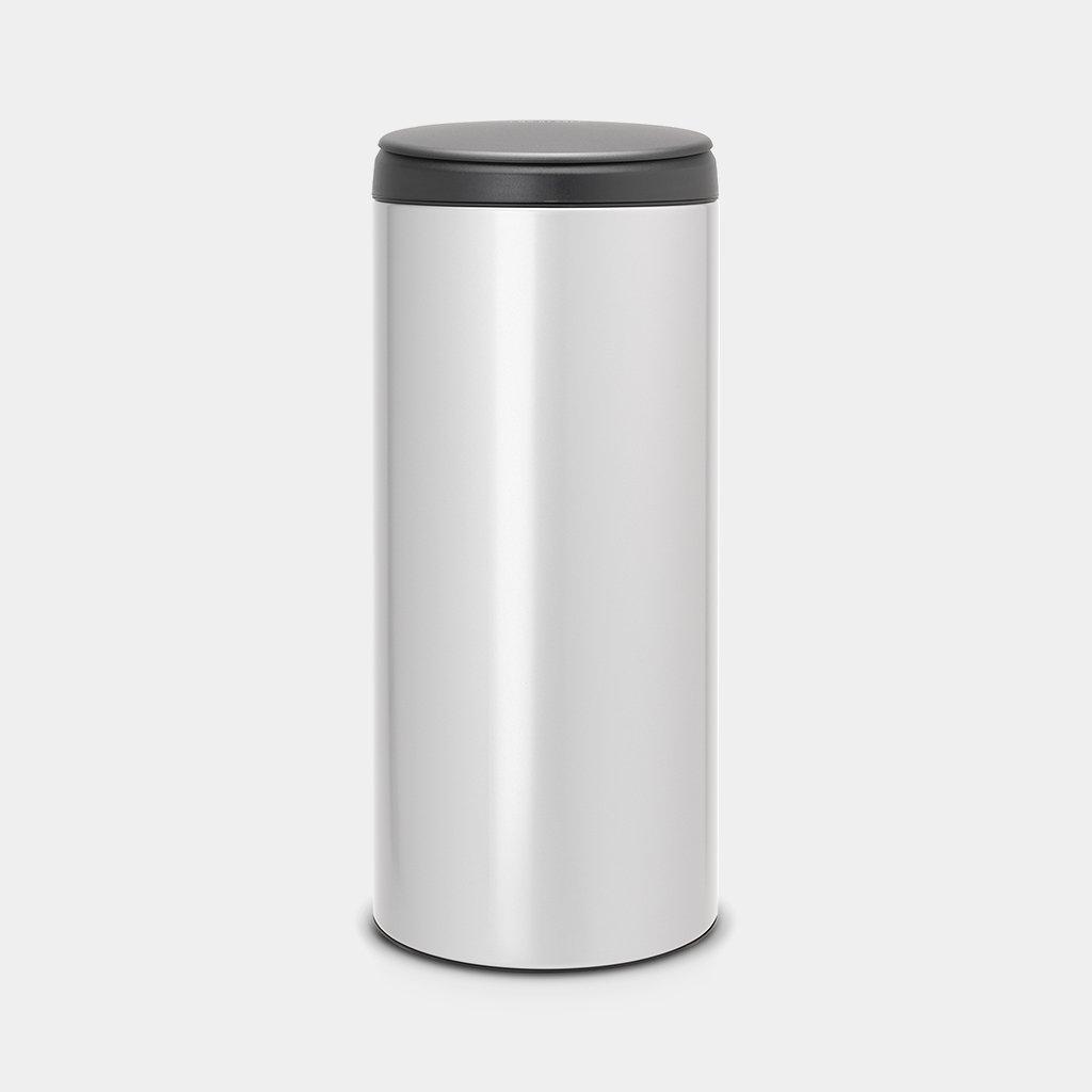 Brabantia Touch Bin 30l Grijs.Flipbin 30 Litre Metallic Grey