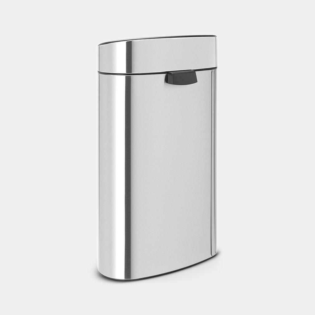 Brabantia Touch Bin Mat Rvs.Touch Bin New Recycle 23 10 Litre Matt Steel Fingerprint Proof