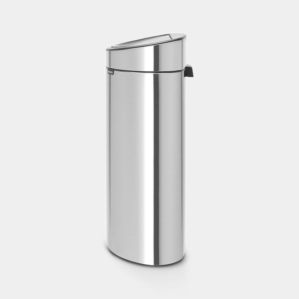 Brabantia Touch Bin 30 L Mat Zwart.Touch Bin New Recycle 23 10 Litre Matt Steel Fingerprint Proof