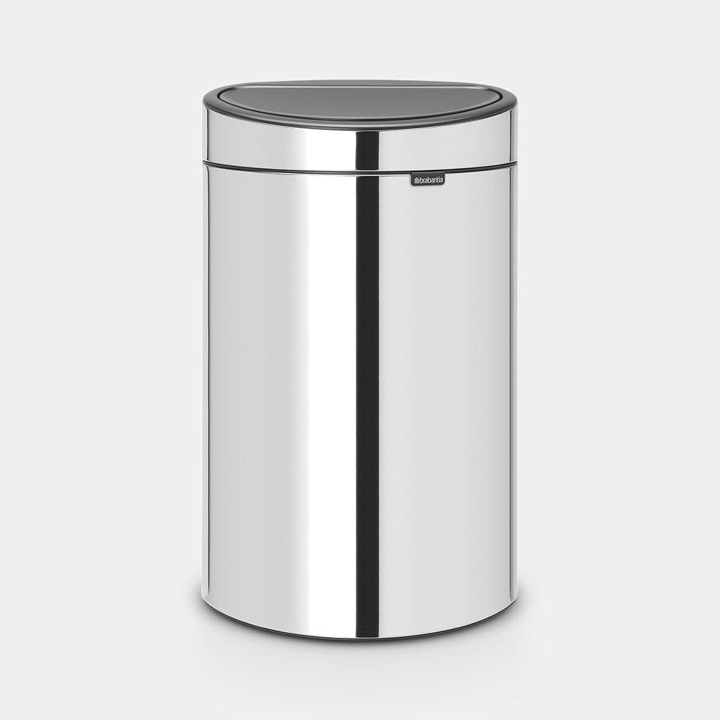 Garantie Brabantia Touch Bin 40 Liter.Touch Bin New 40 Liter Brilliant Steel