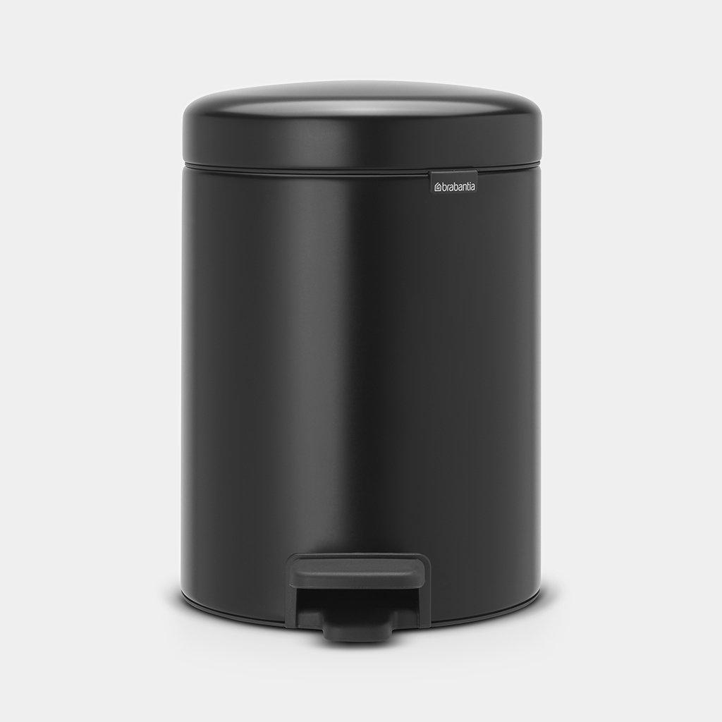 Brabantia Touch Bin 30 Liter Mat Staal.Pedal Bin Newicon 5 Litre Matt Black