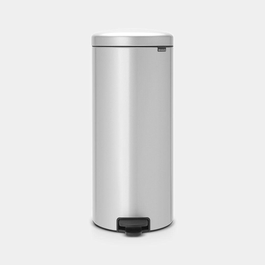 Brabantia Silent Pedaalemmer.Pedaalemmer Newicon 30 Liter Metallic Grey