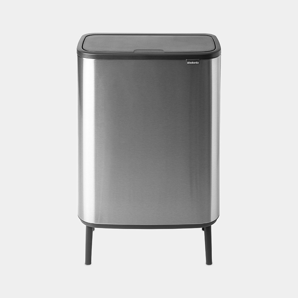 Brabantia Touch Bin 30 Liter Mat.Bo Touch Bin Hi 2 X 30 Litre Matt Steel Fingerprint Proof