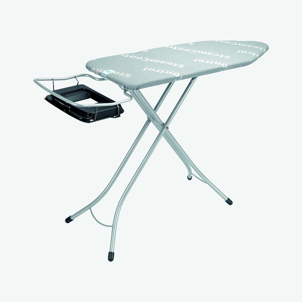Brabantia Table /à repasser avec repose-fer vapeur et grille repose-linge Cadre chrom/é 25 mm Housse /écrue Taille C 124 x 45 cm