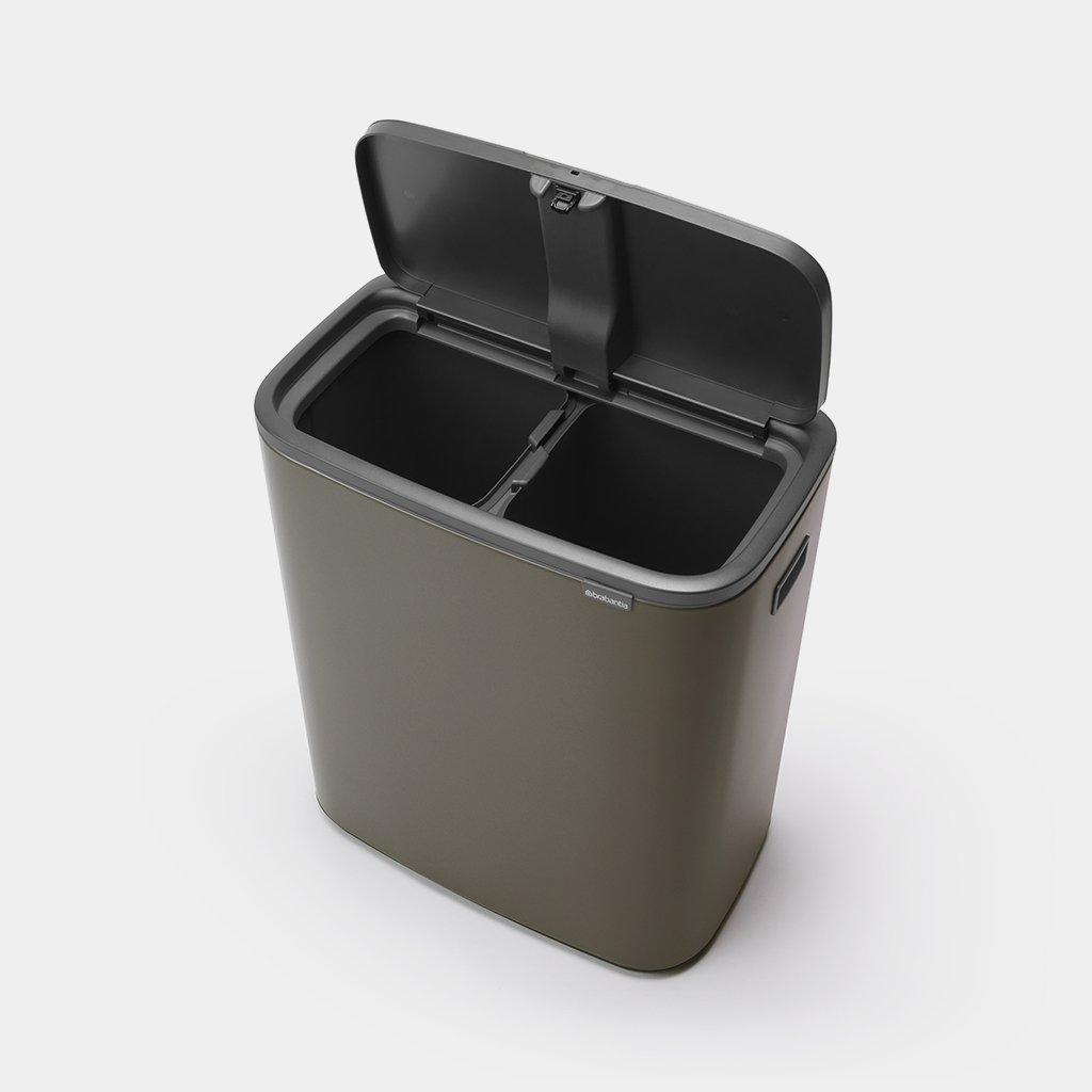 Prullenbak met 2 afvalemmers van 30 liter