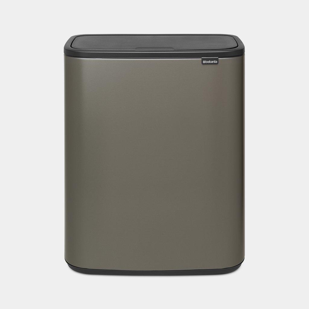 Brabantia Touch Bin 50 Liter Wit.Bo Touch Bin 60 Litre Platinum