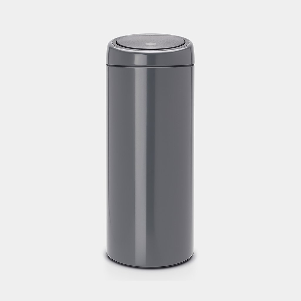 Brabantia Touch Bin Afvalverzamelaar 30 Liter.Touch Bin 30 Liter Iron Grey Brabantia