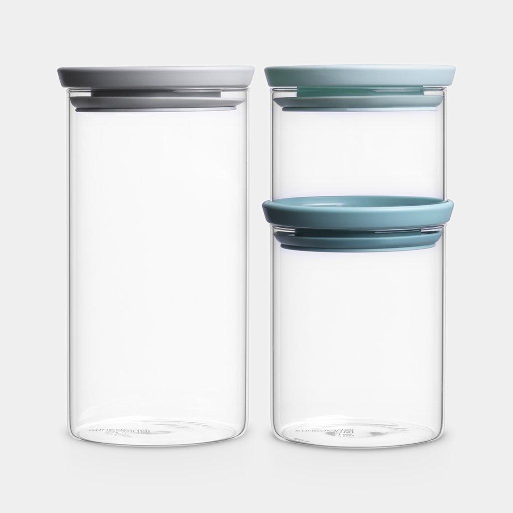 Stackable Jars Set of 3 - Mixed