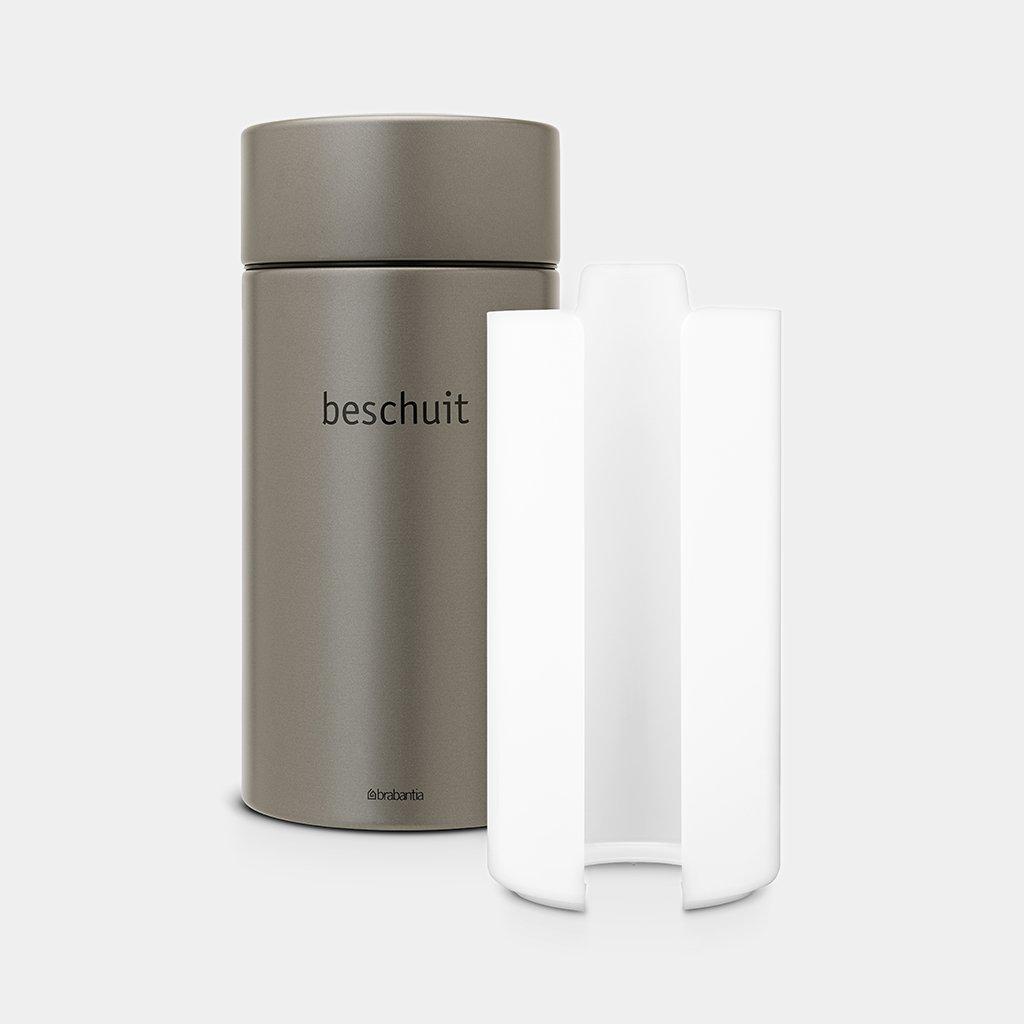Brabantia Touch Bin 50 Liter Blokker.Voorraadbus 1 7 Liter Platinum