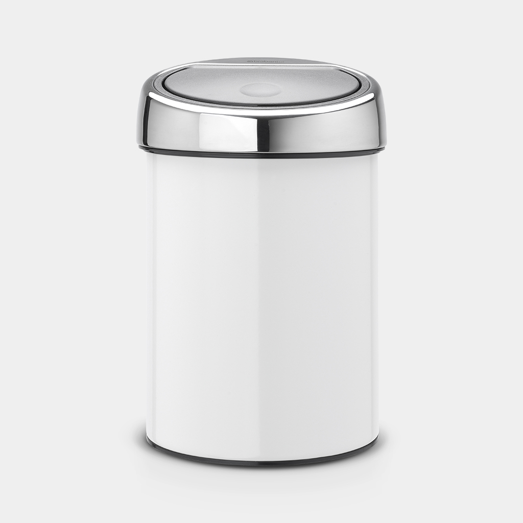 Brabantia Touch Bin 30 Liter Wit.Touch Bin 3 Litre White Brabantia