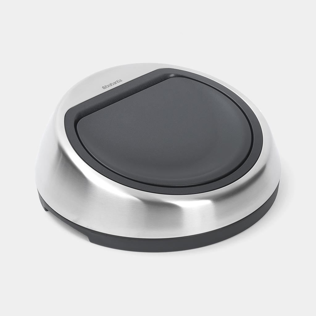 Brabantia Touch Bin 50 Liter Wit.Lid Touch Bin 50 Litre J Lock Matt Steel