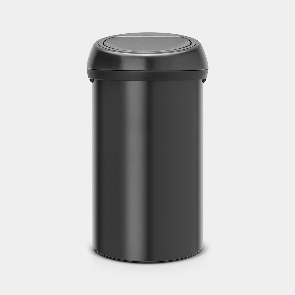 Brabantia Touch Bin Afvalverzamelaar 30 Liter.Touch Bin 60 Liter Matt Black