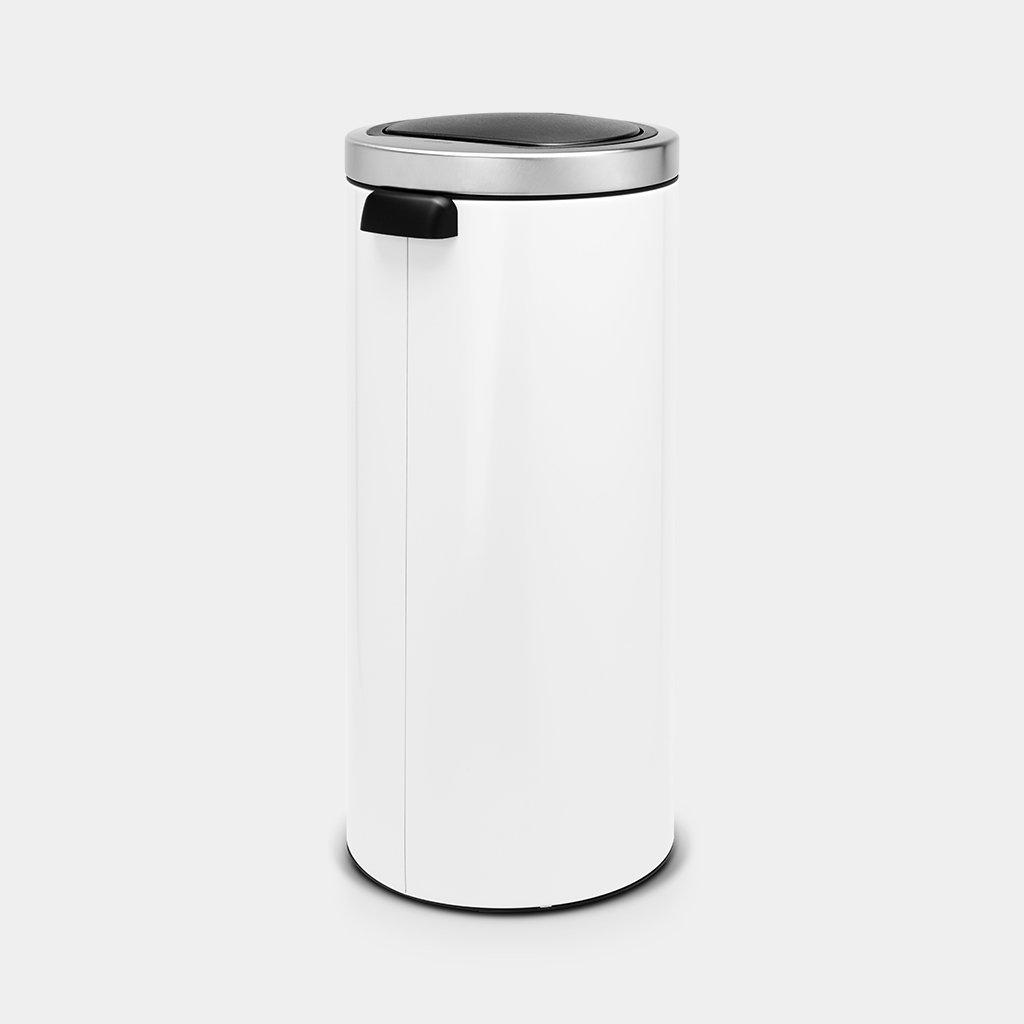Brabantia Touch Bin 30 L Flat Top.Touch Bin 30 Litre White