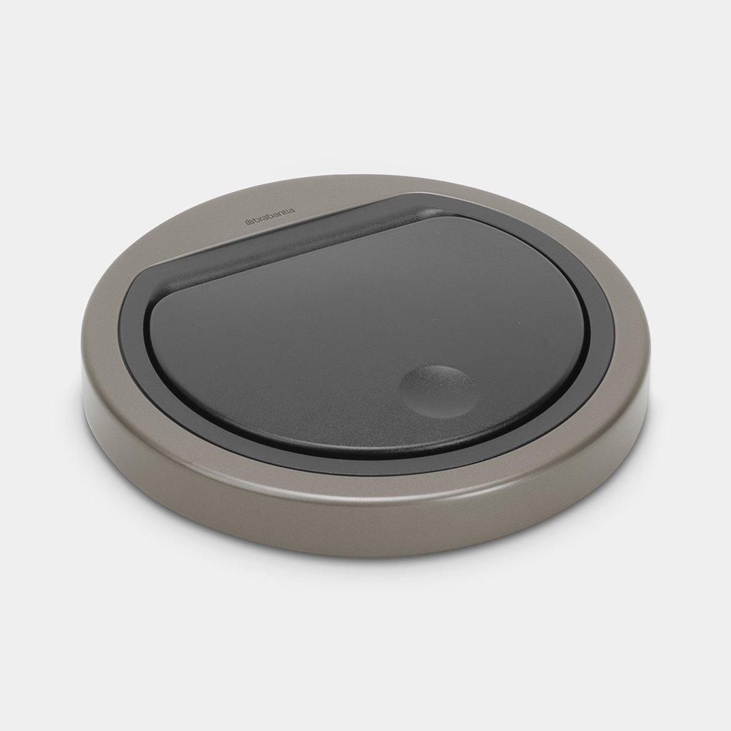 Brabantia Afvalemmer Touch Bin Flat Top.Deksel Flat Top Touch Bin 30 Liter Of 20 Liter Platinum