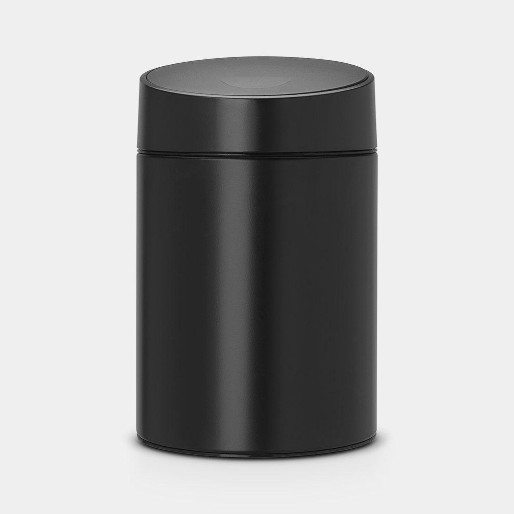 Brabantia 5L Slide Bin 5 Litre–Black Waste//Bathroom Bin