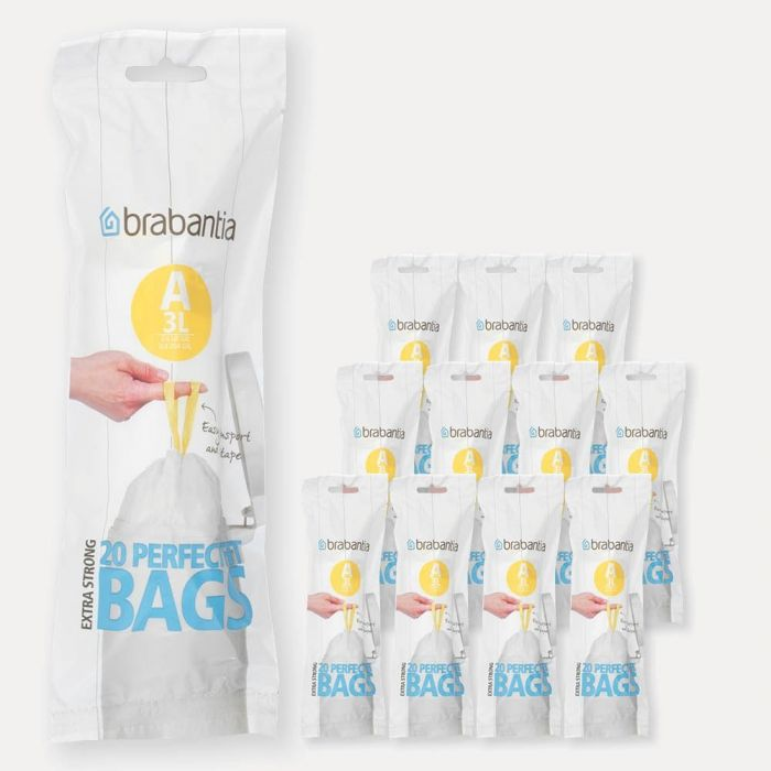 PerfectFit Bags Code A (3 litre), 12 rolls of 20 bags