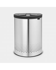 Laundry Bin 55 litre, Selector - Matt Steel