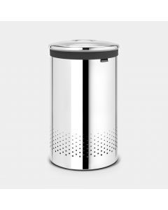 Laundry Bin 60 litre - Brilliant Steel