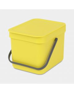 Sort & Go afvalemmer 6 liter - Yellow