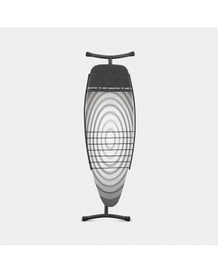 Mesa de planchar D 135 x 45 cm, para plancha y generador de vapor, con bandeja para ropa - Titan Oval