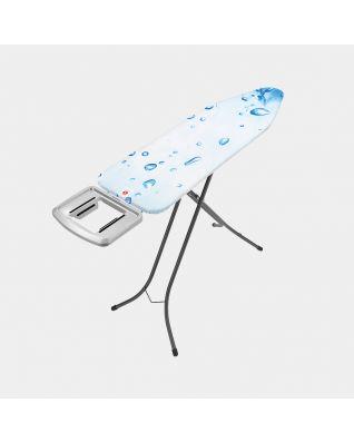 Mesa de planchar B , 124x38 cm, soporte sólido plancha vapor acero inoxidable - Ice Water