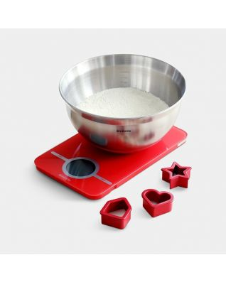 Baking Tools Kitchen Scale & Mixing Bowl - Passion Red
