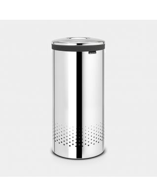 Laundry Bin 35 litre - Brilliant Steel