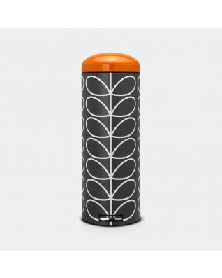 Pedal Bin Retro 20 litre - Orla Kiely Charcoal