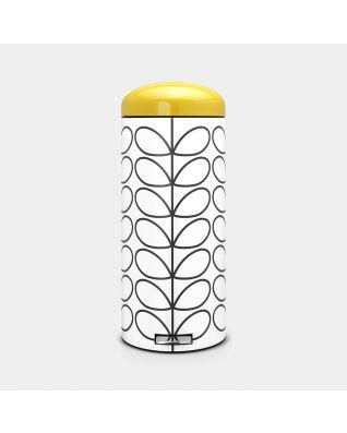 Pedal Bin Retro 30 litre - Orla Kiely Cream