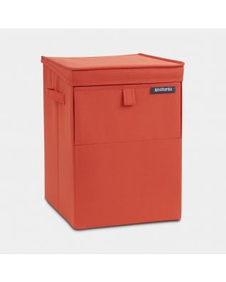 Stapelbare wasbox 35 liter - Warm Red