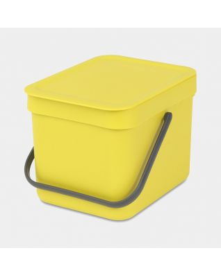 Sort & Go Waste Bin 6 litre - Yellow