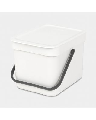 Sort & Go Waste Bin 6 litre - White