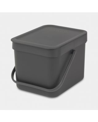 Sort & Go Waste Bin 6 litre - Grey