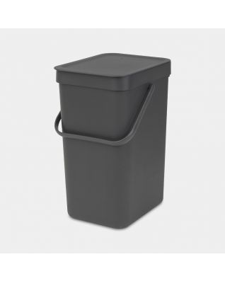 Sort & Go Waste Bin 12 litre - Grey