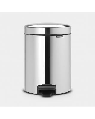 Pattumiera a pedale newIcon 5 litri - Brilliant Steel
