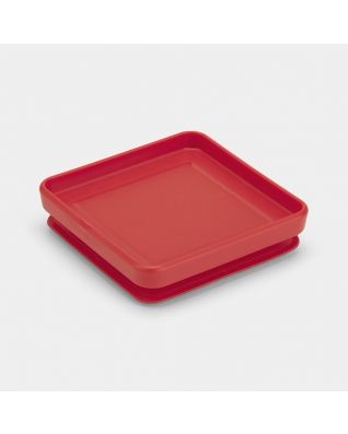 Lid Square Canister - Tasty Colours Red