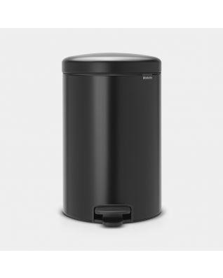Poubelle à pédale newIcon 20 litres - Matt Black