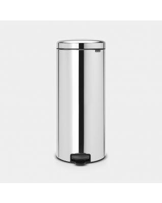 Pattumiera a pedale newIcon 30 litri - Brilliant Steel
