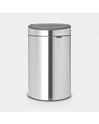 Touch Bin New 40 litres - Matt Steel Fingerprint Proof