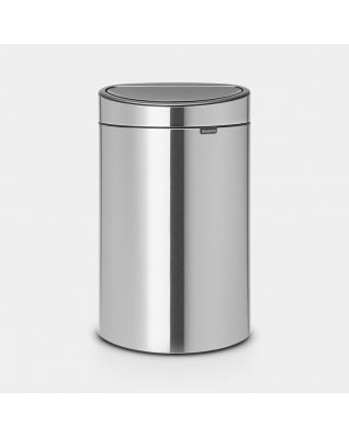 Touch Bin New 40 litre - Matt Steel