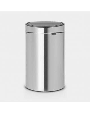 Touch Bin New 40 litres - Matt Steel