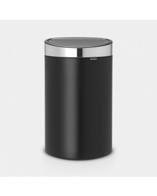Touch Bin New 40 litre - Matt Black