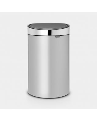 Touch Bin New 40 litre - Metallic Grey