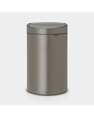 Touch Bin New 40 litre - Platinum