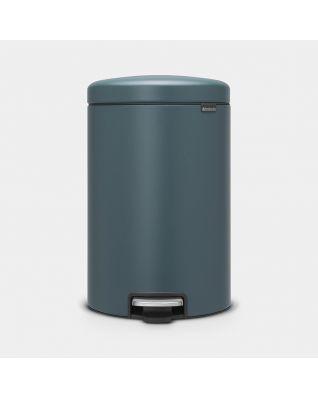 Poubelle à pédale newIcon 20 litres - Mineral Reflective Blue